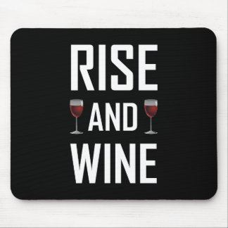 Tapis De Souris Hausse et verres de vin
