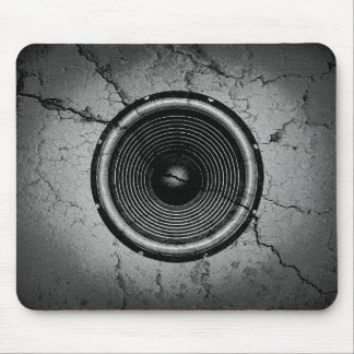 Tapis De Souris Haut-parleur de musique sur un mur criqué