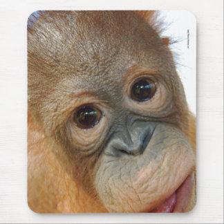 Tapis De Souris Hé, je suis une photo mignonne d'orang-outan