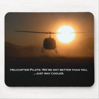 Tapis De Souris Hélicoptère pilote de glacière