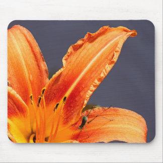 Tapis De Souris Hémérocalle et créature excentrées Mousepad floral