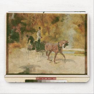 Tapis De Souris Henri De Toulouse-Lautrec | un dog-cart
