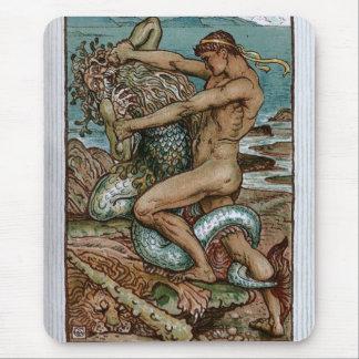 Tapis De Souris Hercule et le vieil homme de la mer