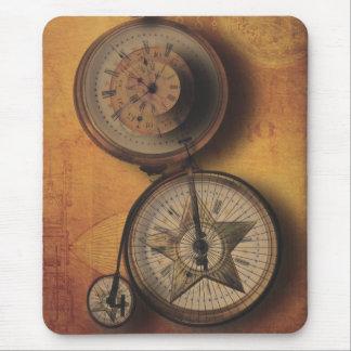 Tapis De Souris Heure d'aller horloge de Steampunk sur la