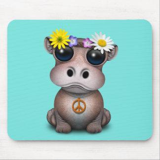 Tapis De Souris Hippie mignonne d'hippopotame de bébé
