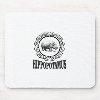 Tapis De Souris Hippopotame encadré