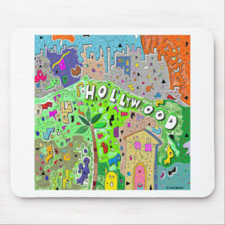 Tapis De Souris Hollywood Hills carré