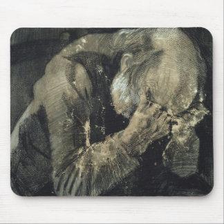 Tapis De Souris Homme de Vincent van Gogh | avec sa tête dans des