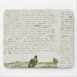 Tapis De Souris Homme de Vincent van Gogh | tirant une herse