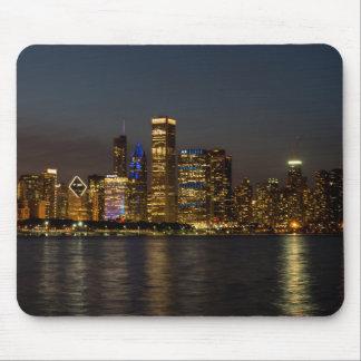 Tapis De Souris Horizon Chicago Pano de nuit