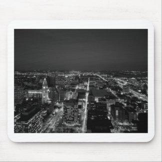 Tapis De Souris Horizon noir et blanc de Philadelphie