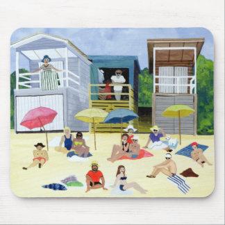 Tapis De Souris Huttes 1991 de plage