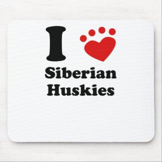 Tapis De Souris I chiens de traîneau sibériens de coeur