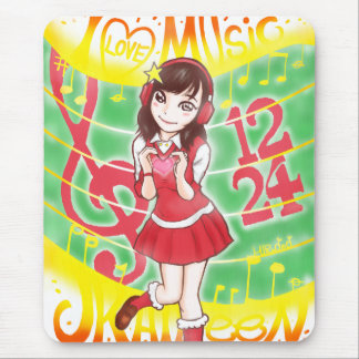 TAPIS DE SOURIS I LOVE MUSIC JK AILEEN 1224