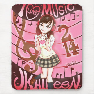 TAPIS DE SOURIS I LOVE MUSIC JK AILEEN 214 ~マウスパッド~