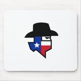 Tapis De Souris Icône de drapeau du Texas de bandit