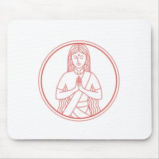 Tapis De Souris Icône de Namaste