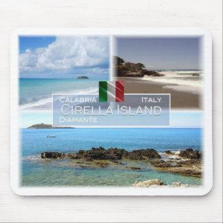 Tapis De Souris IL l'Italie - la Calabre - le Diamante et l'île de