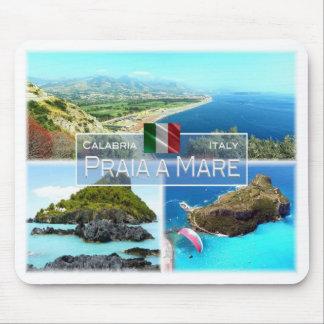 Tapis De Souris IL l'Italie - la Calabre - Praia une jument - île
