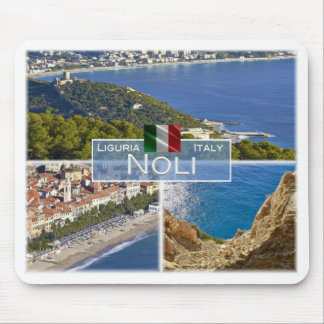Tapis De Souris IL l'Italie - la Ligurie - Noli - château de Monte