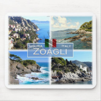 Tapis De Souris IL l'Italie - la Ligurie - Zoagli - château de
