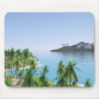 Tapis De Souris Île tropicale de palmier