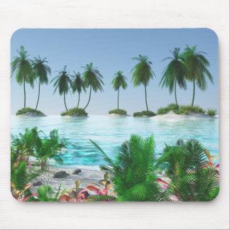Tapis De Souris Île tropicale de paradis