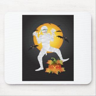 Tapis De Souris Illustration de citrouille découpée par maman de