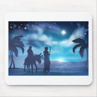 Tapis De Souris Illustration de Noël de nativité de Mary et de