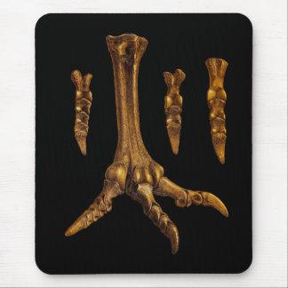 Tapis De Souris Illustration fossile de pied