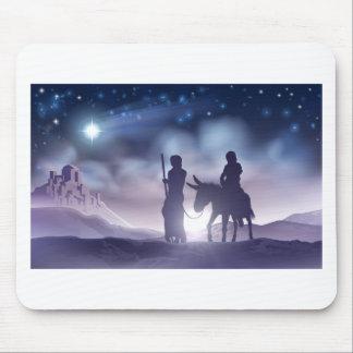 Tapis De Souris Illustration Mary et Joseph de Noël de nativité