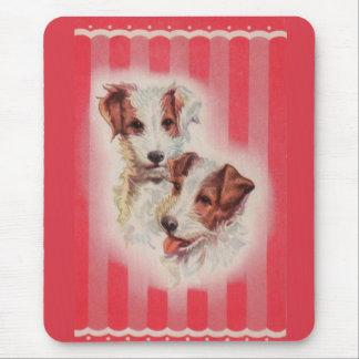Tapis De Souris Illustration MIGNONNE de terriers de Jack Russell