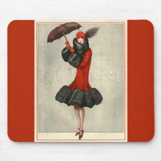 Tapis De Souris Illustration parisienne Mousepads de mode
