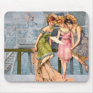 Tapis De Souris Illustration vintage Mousepad de plage de KRW