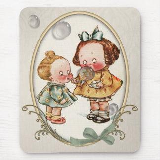 Tapis De Souris Illustration vintage Mousepad d'enfants en bas âge