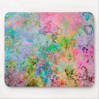 Tapis De Souris Image de marbre abstraite de couleurs au néon