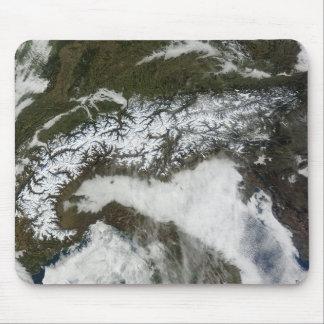 Tapis De Souris Image satellite de la gamme de montagne d'Alpes