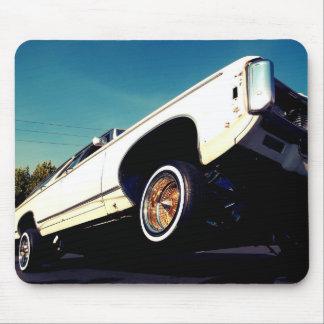 Tapis De Souris Impala blanc Mousepad de Chevy de Lowrider