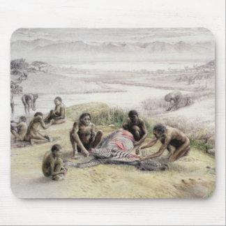 Tapis De Souris Impression d'un camp occupé par des habilis homos