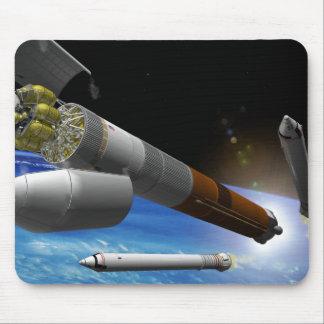 Tapis De Souris Interprétation d'artiste d'une fusée grosse