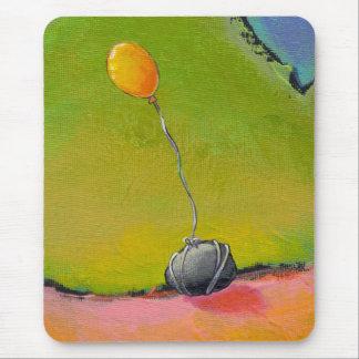 Tapis De Souris Intitulé :  Attaché - art de ballon au sol par