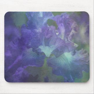 Tapis De Souris Iris botanique de pourpre de fleur
