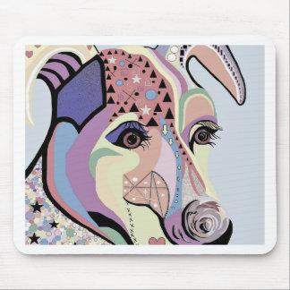 Tapis De Souris Jack Russell Terrier dans des couleurs de denim