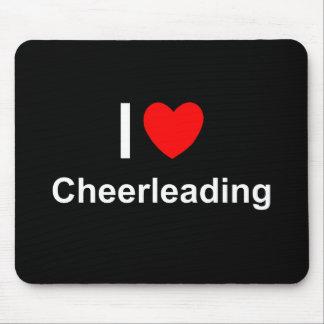 Tapis De Souris J'aime Cheerleading de coeur