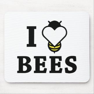 Tapis De Souris J'aime des abeilles