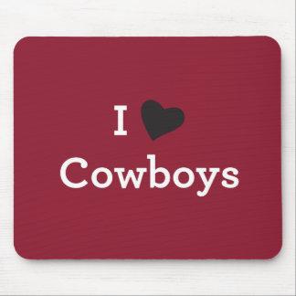 Tapis De Souris J'aime des cowboys