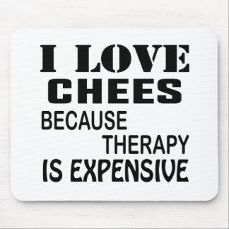 Tapis De Souris J'aime des échecs puisque la thérapie est chère
