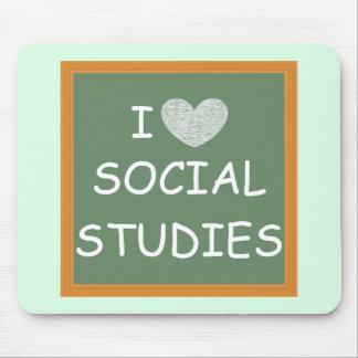 Tapis De Souris J'aime des études sociales