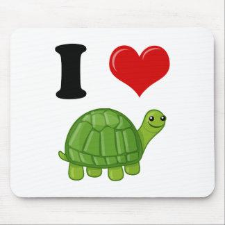 Tapis De Souris J'aime des tortues