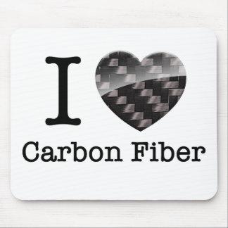 Tapis De Souris J'aime la fibre de carbone